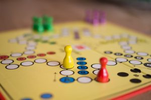 Ludo board and pieces